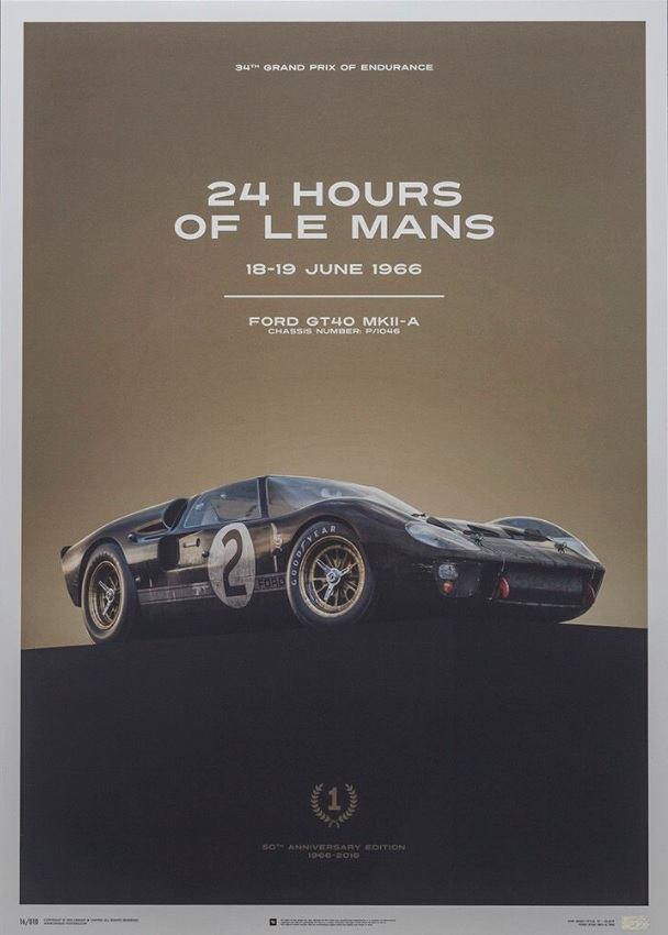 collector studio fine automotive memorabilia  le mans ford gt posters poster set
