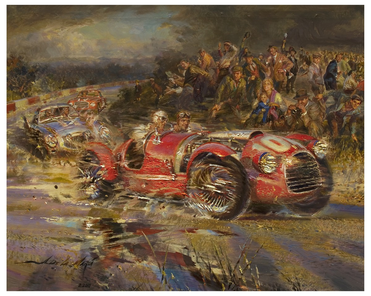 Collector Studio Fine Automotive Memorabilia 1948 The First Ferrari Original Painting