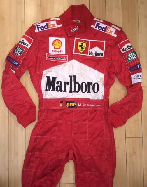 Collector Studio Fine Automotive Memorabilia 1999 Michael Schumacher Ferrari Suit Monaco