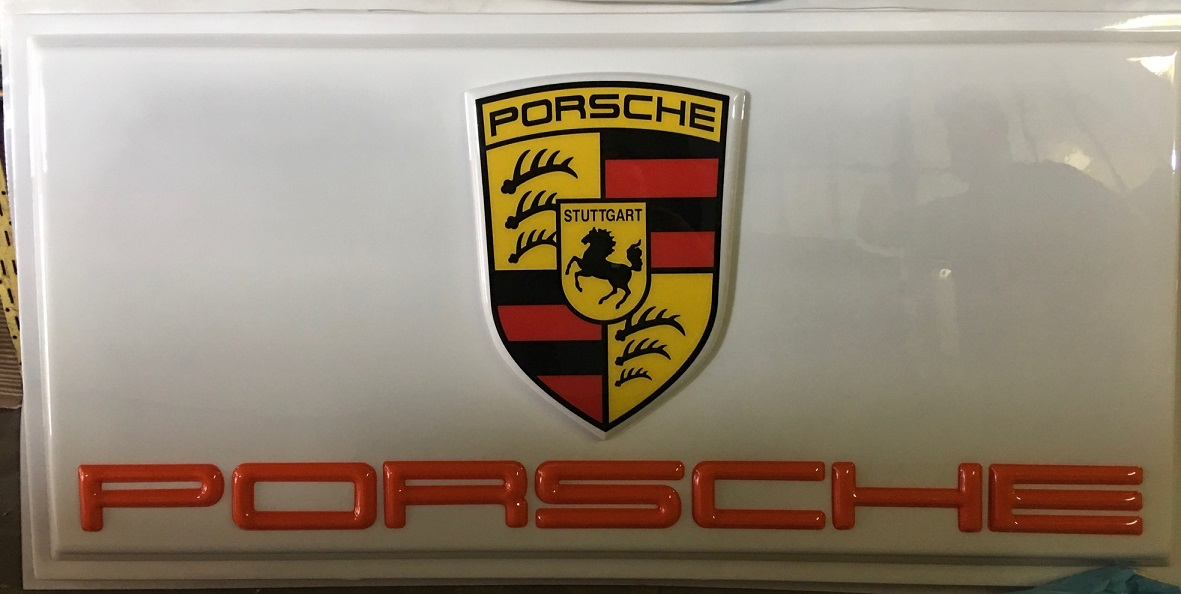 Collector Studio - Fine Automotive Memorabilia - 2000s Porsche dealer sign - huge